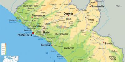 Africa Occidentale Cartina Geografica.Liberia Mappa Mappe Liberia Africa Occidentale Africa